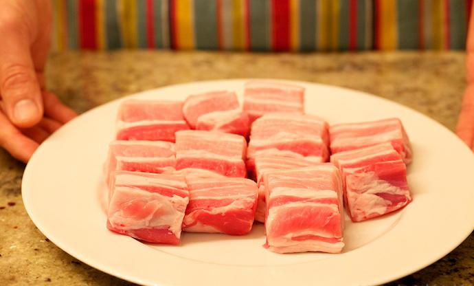 Red Braised Pork Belly step1
