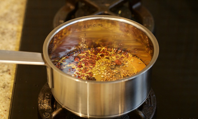 chili oil step1