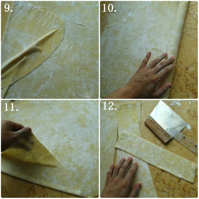 wonton wrappers method two step3