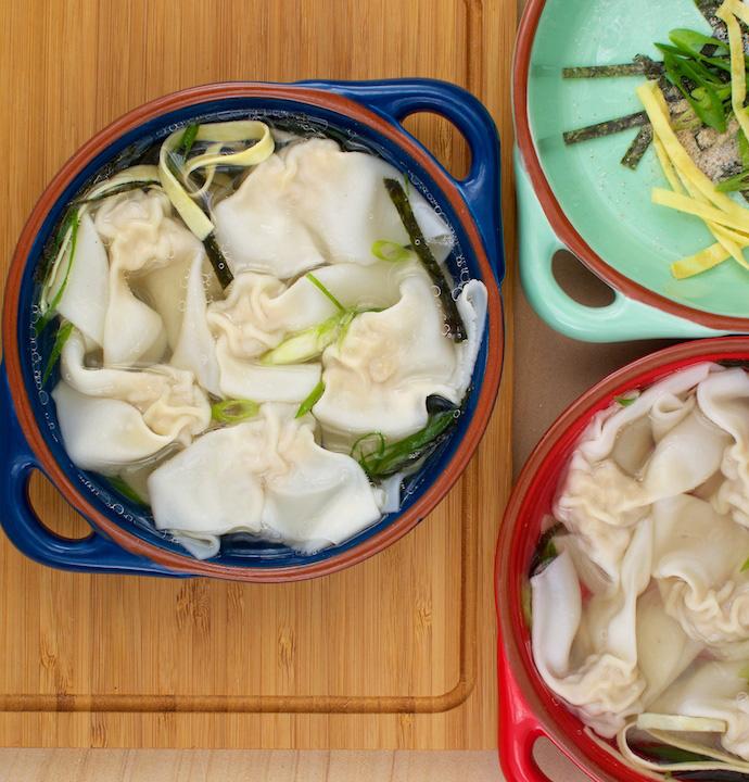 how to make homemade wonton soup