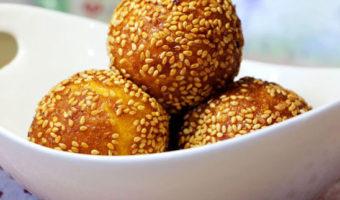 Chinese Pumpkin Bean-Paste Sesame Balls