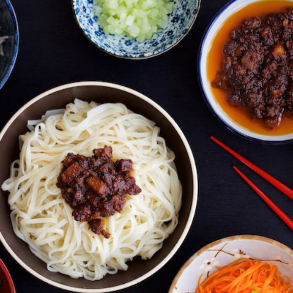 Zha Jiang Mian (Old Beijing Noodles with Soy Bean Paste)