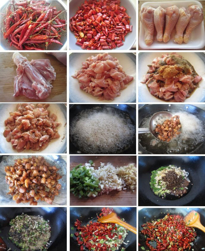 Spicy Sichuan Chicken making method