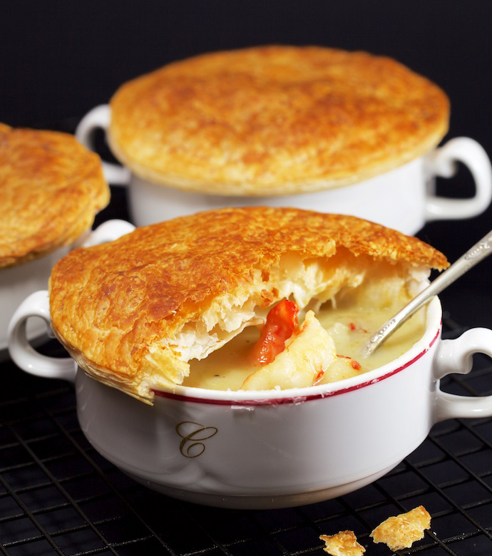Creamy Pastry Topped Chowder