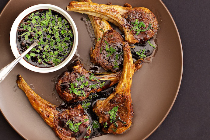 Fried Lamb Chops with Mint Sauce