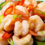 Tender and Glossy Garlic Shrimp