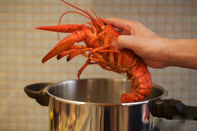 Lobster Thermidor step2