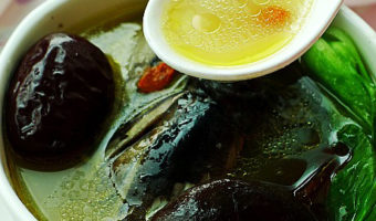 Black Chicken Soup with Mushrooms(Chinese Chicken Soup)