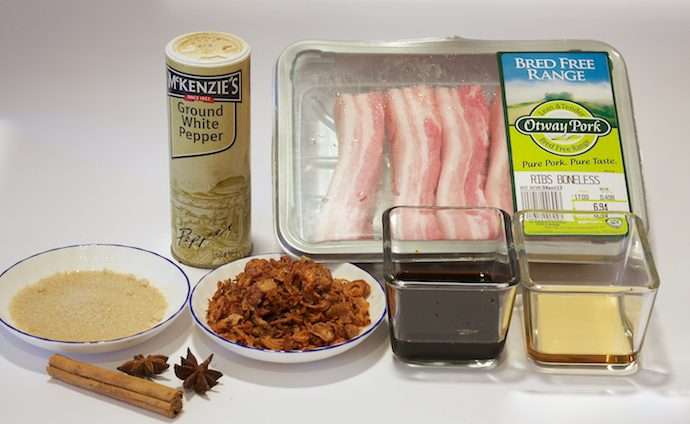 braised pork rice ingredients
