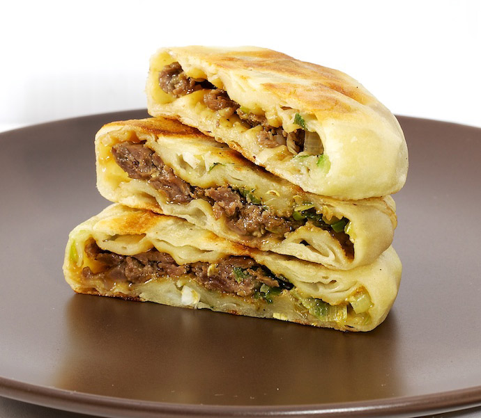 Meat pie recipe yum of china the charm of this chinese meat pie comes from its crispiness its crust is made up of layers of dough that are as thin as paper forumfinder Gallery