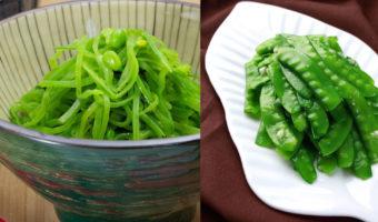 Stir Fry Snow Peas – Two Methods