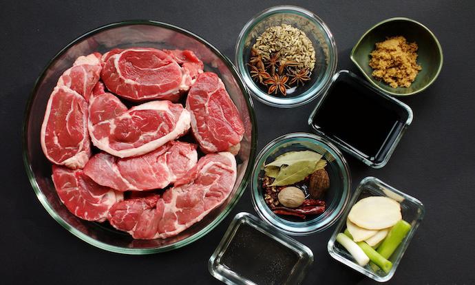 Chinese Braised Beef Shank ingredients