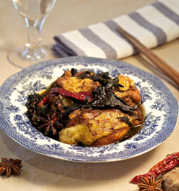 chinese chicken and mushroom