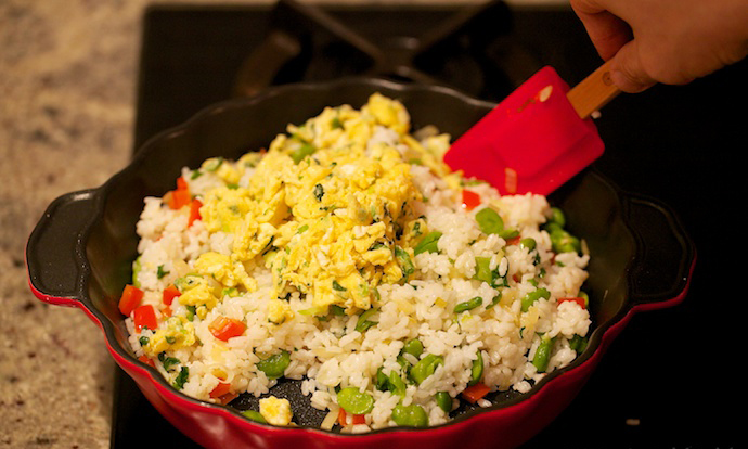 chinese egg fried rice step13