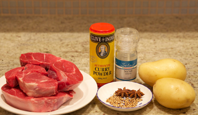 Chinese Beef Curry Ingredients