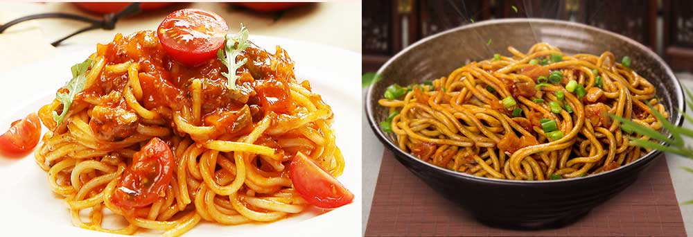 ASIAN NOODLES VS ITALIAN PASTAS