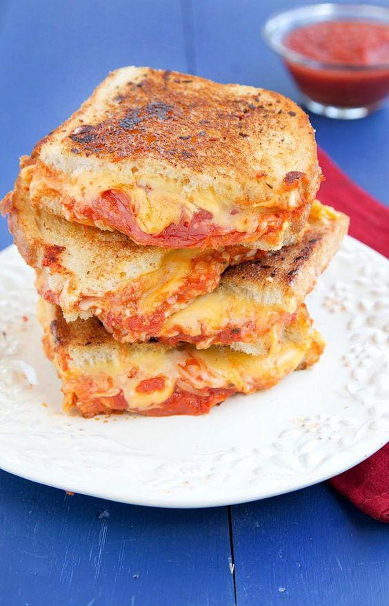 Grilled cheese with pepperoni