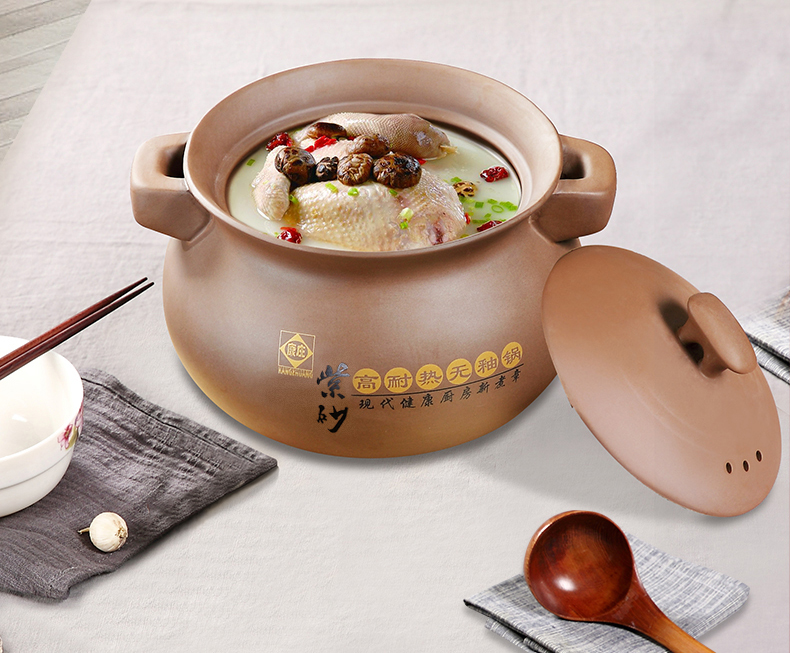 Korean Traditional Earthenware Hot Pot for Dolsot Bibimbap Stew Soup Boiled Dish