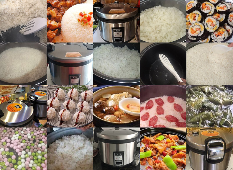 different usages of Commercial Rice Cooker