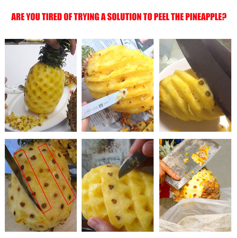 trying a solution to peel the Pineapple