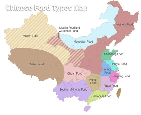 Chinese Food Map