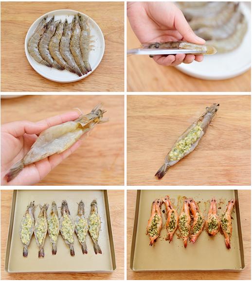 Shrimp With Garlic Sauce baked method steps