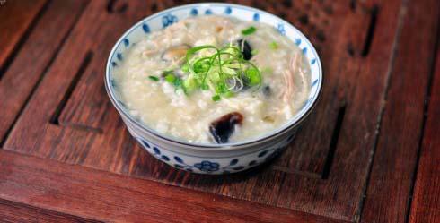Century Egg Congee With Pork