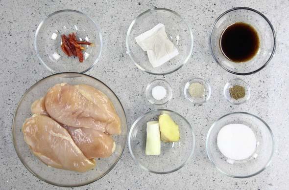 Chicken Floss step1