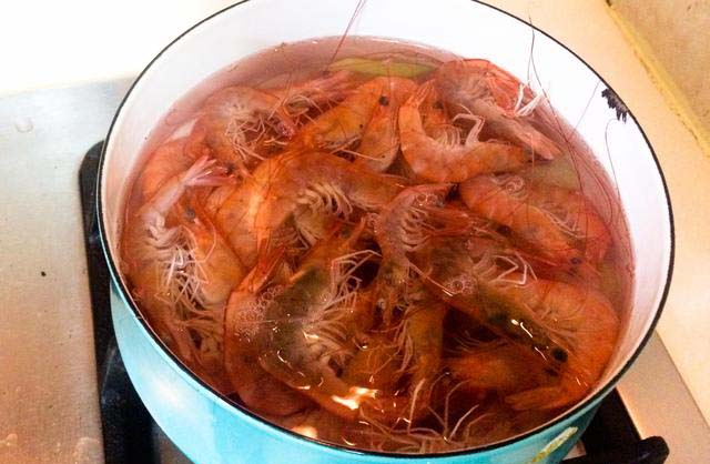 White Boiled Shrimp step5
