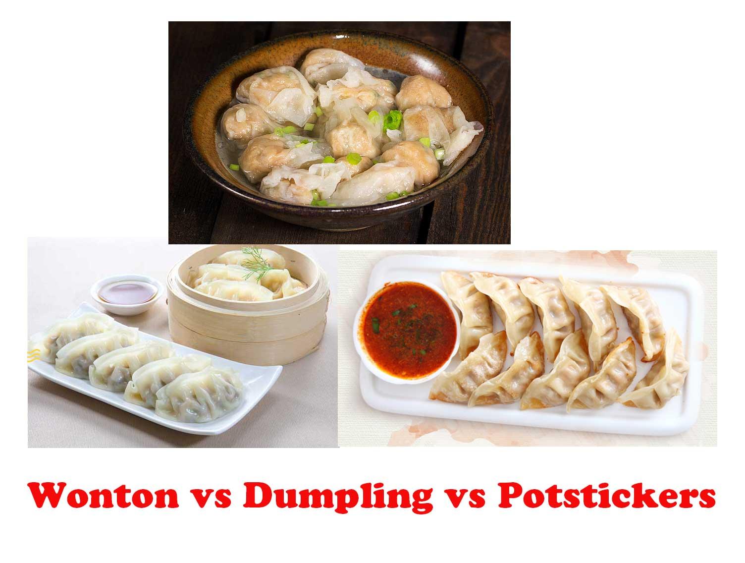Wonton Vs Dumpling Vs Potstickers Yum Of China