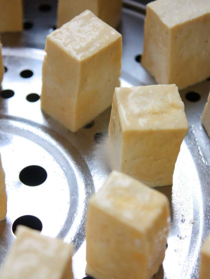 the mold of Fermented Tofu was beginning to grow