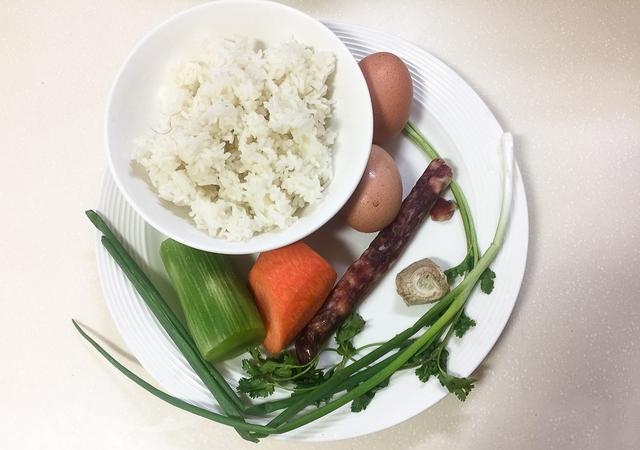 Chinese Sausage Fried Rice step1