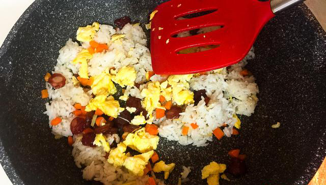 Chinese Sausage Fried Rice step9
