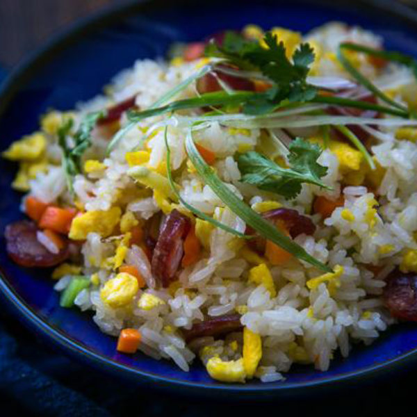 Chinese Sausage (Lap Cheong) Fried Rice