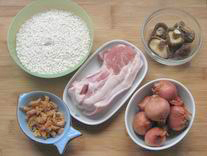 Taiwanese Sticky Rice ingredients