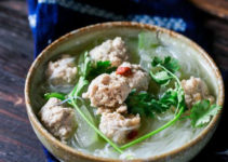 Winter Melon Soup (Dong Gua Soup) with Meatballs