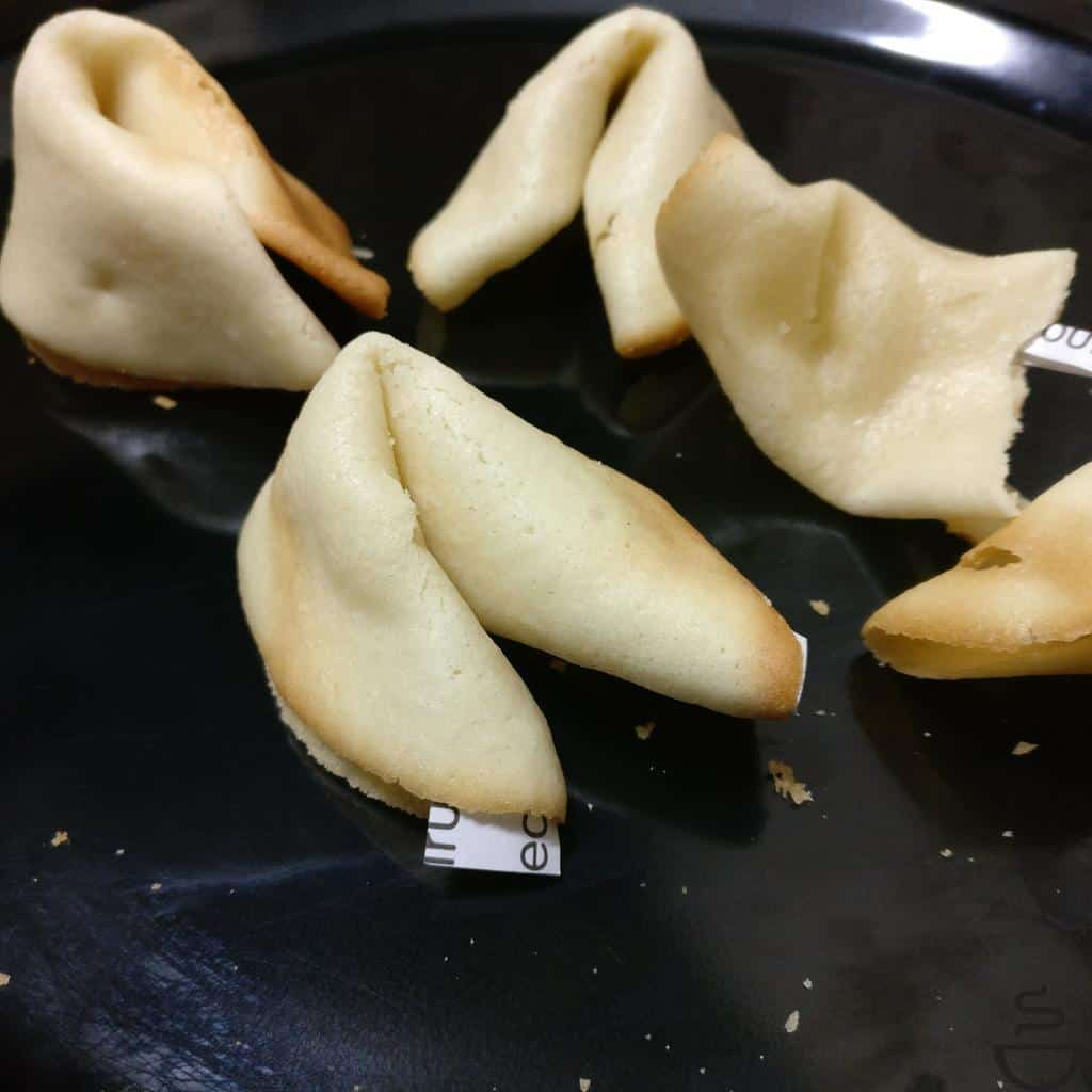 Egg free fortune cookies