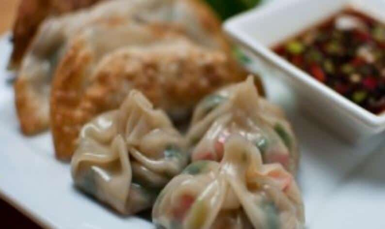 Perfect fried or steamed veggie dumpling