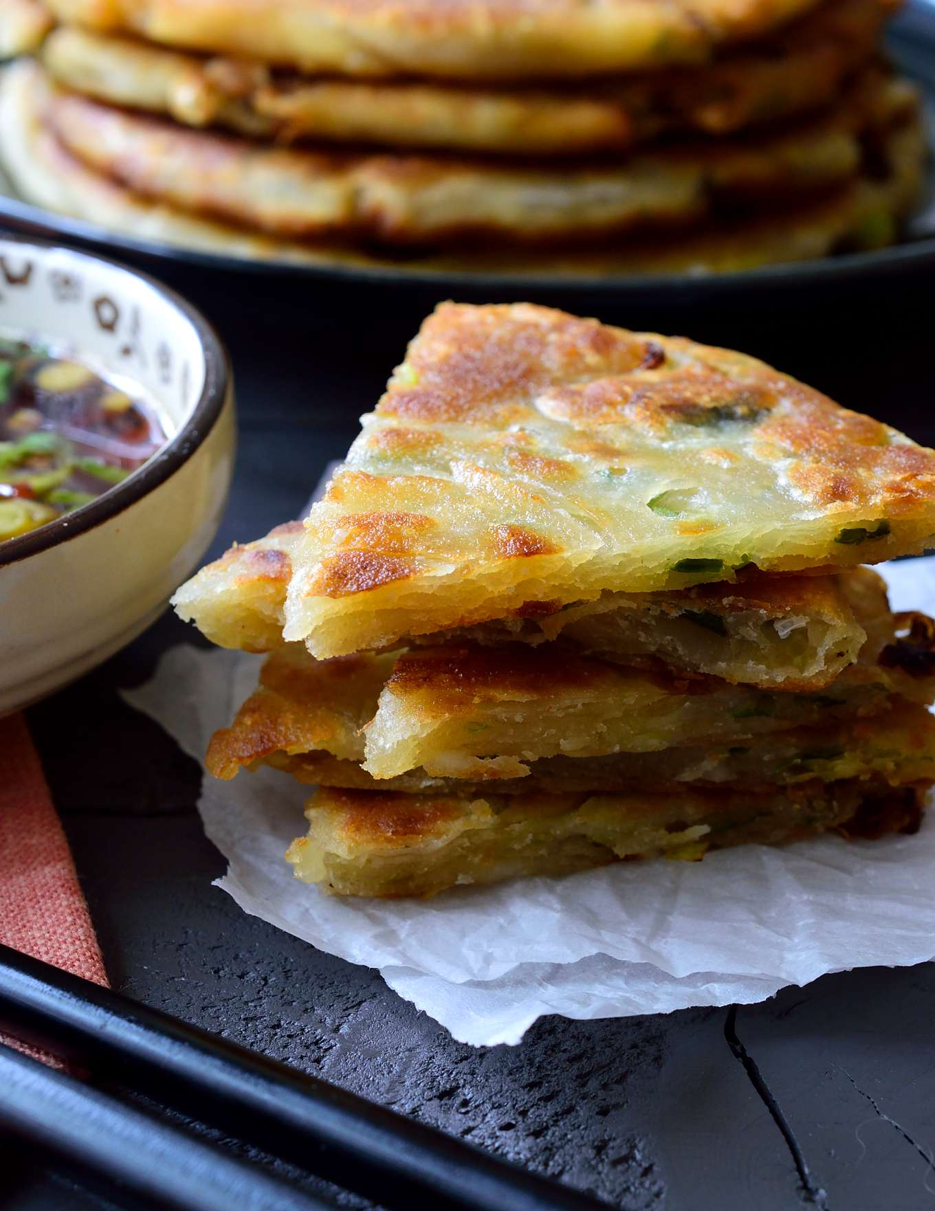 Veggie scallion pancakes