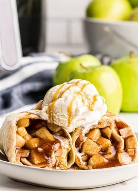 Air Fryer Apple Pie Chimichangas