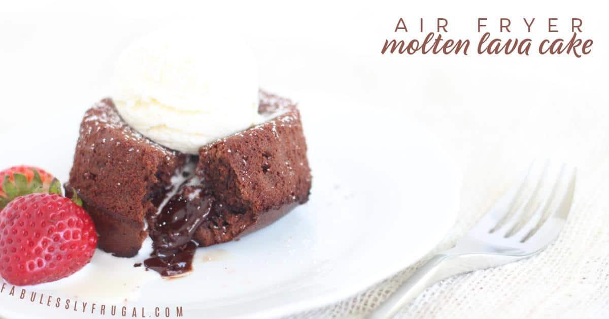 Best molten air fryer lava cake