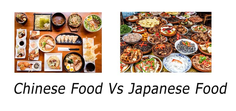 Chinese Food Vs Japanese Food