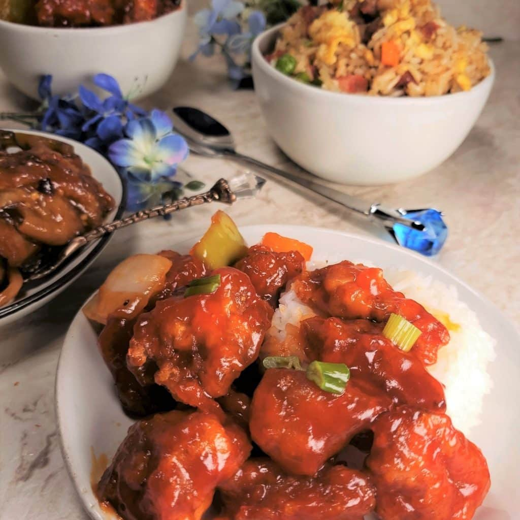 Instant pot multi cooker gem Chinese sweet and sour pork