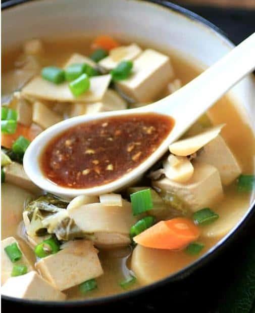 Vegan crockpot Chinese hot pot