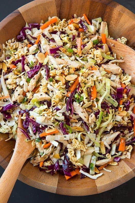Asian ramen chicken chopped salad