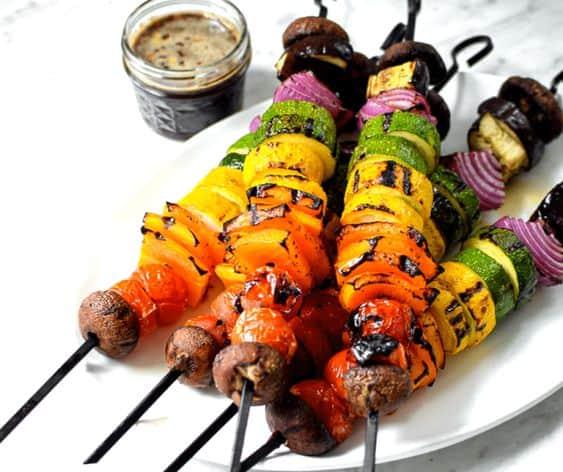 Balsamic Glazed Veggie Kebab
