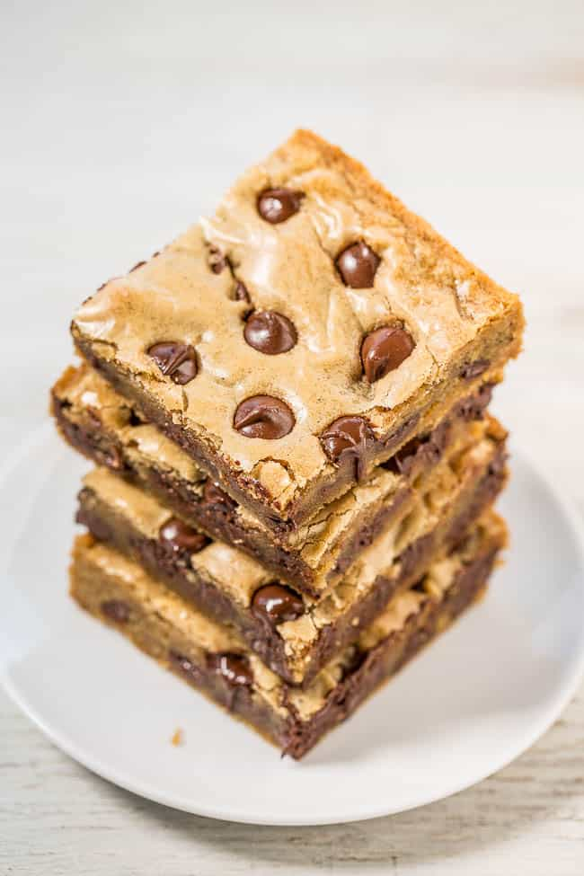 Browned butter chocolate chips blondies