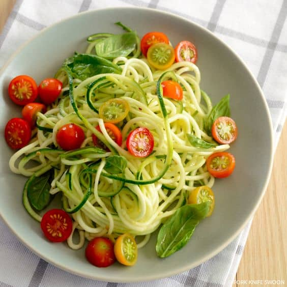 Chilled Zucchini Noodle Salad