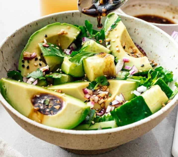 Chinese Cucumber Avocado Salad