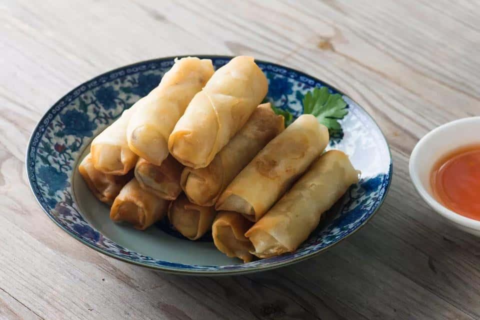 Chinese Pork Spring Rolls